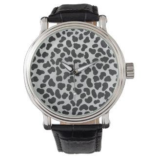 Dalmatian Black and White Print Wrist Watches