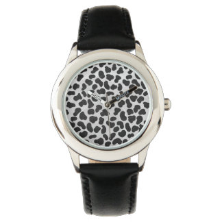 Dalmatian Black and White Print Wristwatch