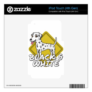 Dalmatian - Black and White Skin For iPod Touch 4G