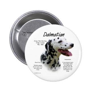 Dalmatian (blk) History Design Pinback Button