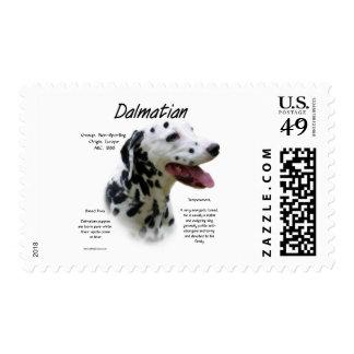 Dalmatian (blk) History Design Postage