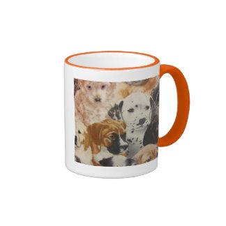 Dalmatian & Boxer Pups Ringer Mug