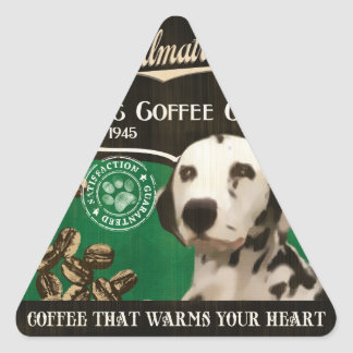 Dalmatian Brand – Organic Coffee Company Triangle Sticker