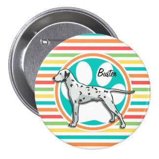 Dalmatian; Bright Rainbow Stripes Pin