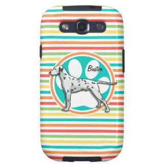 Dalmatian; Bright Rainbow Stripes Galaxy SIII Case