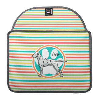 Dalmatian; Bright Rainbow Stripes MacBook Pro Sleeves