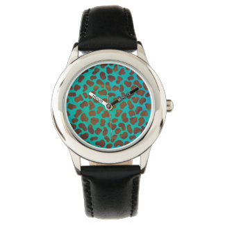 Dalmatian Brown and Teal Print Wrist Watch