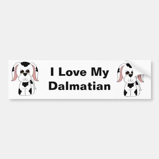 Dalmatian Bumper Sticker Car Bumper Sticker