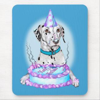 Dalmatian Cake Face Birthday Mouse Pad