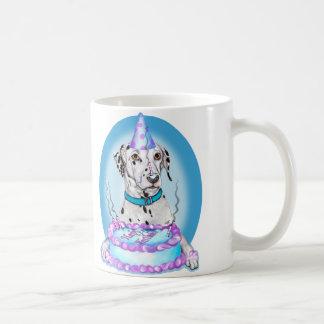 Dalmatian Cake Face Birthday Classic White Coffee Mug