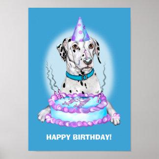 Dalmatian Cake Face Birthday Poster