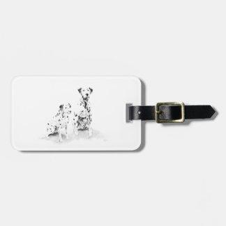 Dalmatian Canine Art Dog Drawing Luggage Tag