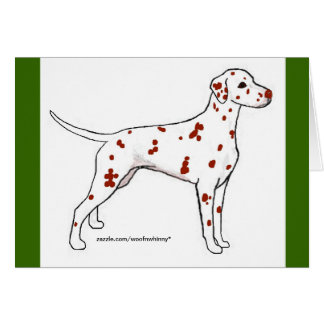 Dalmatian Cards: Liver-Spotted Card