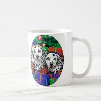 Dalmatian Christmas Open Gifts Mugs