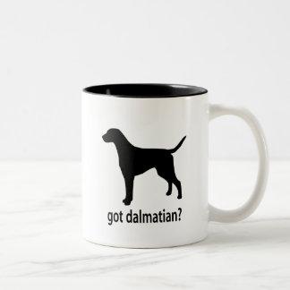 Dalmatian conseguido taza de café