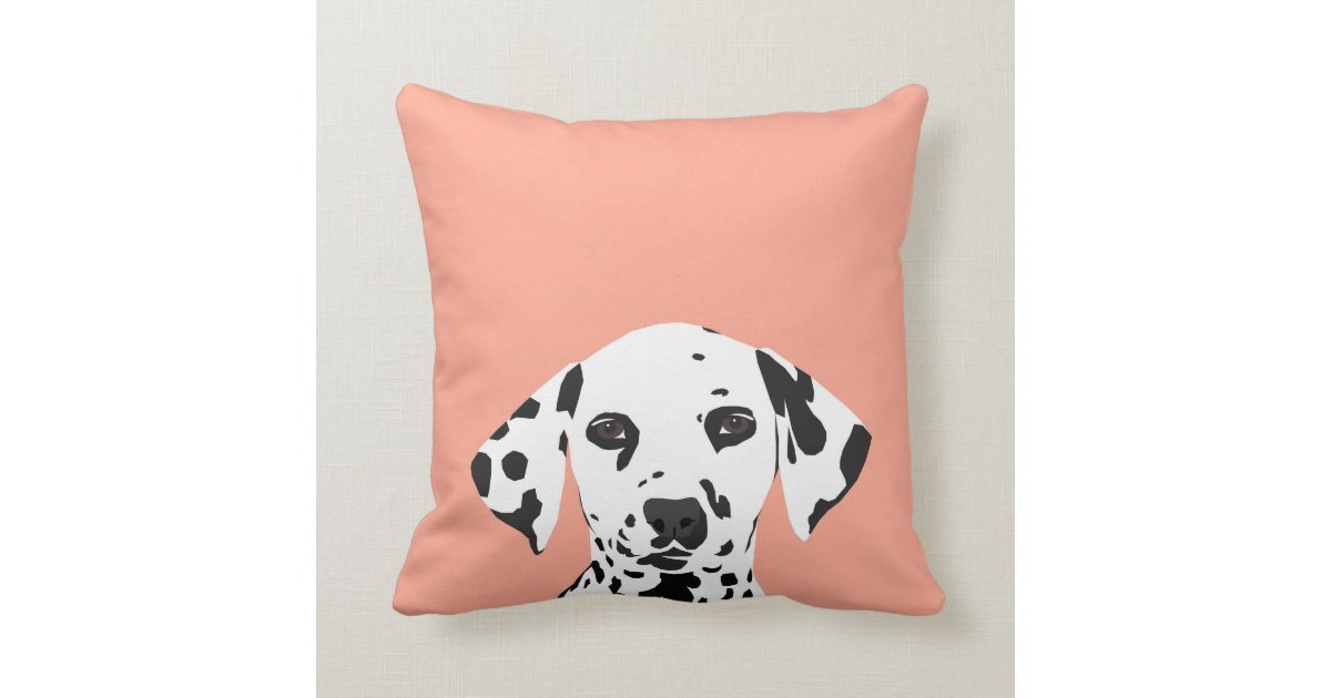 Cute Pillow Illustration : Dalmatian - Cute dog illustration for dog lover Throw Pillow Zazzle