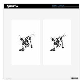 Dalmatian, Dalmatian dog, watercolor Dalmatian Decal For Kindle Fire