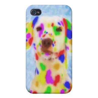 Dalmatian del arco iris iPhone 4 protectores