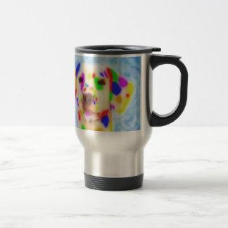 Dalmatian del arco iris taza térmica