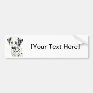 Dalmatian Dog Art Car Bumper Sticker