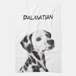 Dalmatian dog beautiful photo, gift towel