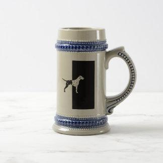 Dalmatian dog beer stein
