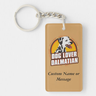 Dalmatian Dog Breed Lover Custom Name Keychain
