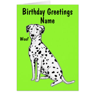 Dalmatian Dog Customizable Birthday Card