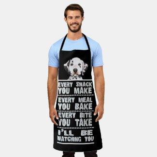 Dalmatian Dog Every Snack You Bake Apron