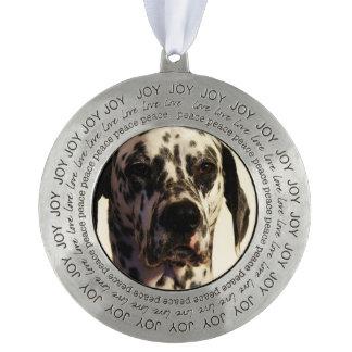 Dalmatian Dog Round Ornament