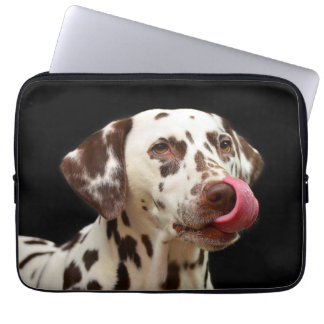 Dalmatian Dog Licking Laptop Sleeve