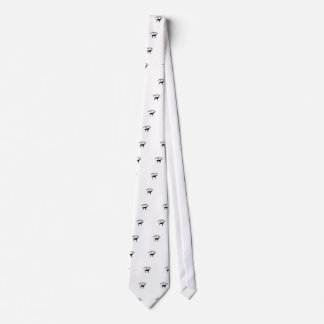 Dalmatian dog pawprint silhouette neck tie