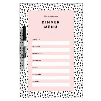 Dalmatian Dots | Dinner Menu Dry Erase Board
