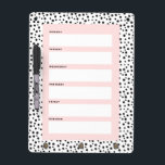 "Dalmatian Dots Weekly Schedule Dry-Erase Board<br><div class=""desc"">Get organized with a weekly scheduler!</div>"