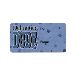 Dalmatian DUDE Label