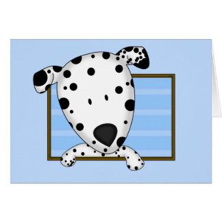 Dalmatian enmarcado del dibujo animado felicitacion