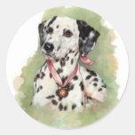 Dalmatian Etiqueta Redonda
