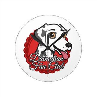 Dalmatian Fan Club Round Clock