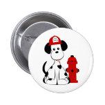 Dalmatian Fire Dog 2 Inch Round Button