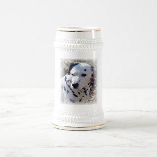Dalmatian Fire Dog Beer Stein