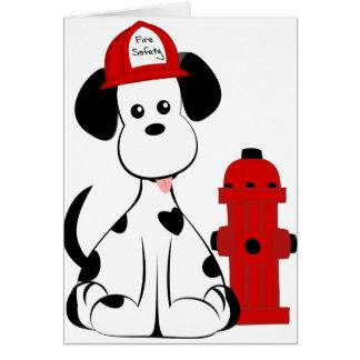 Dalmatian Fire Dog Card