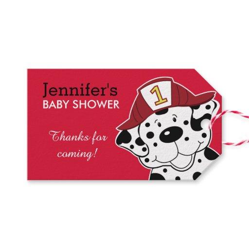 Dalmatian Fire Dog Firetruck Gift Tag