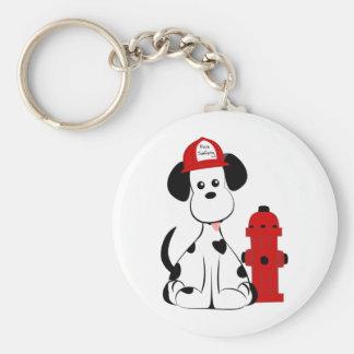 Dalmatian Fire Dog Keychain
