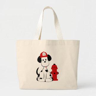 Dalmatian Fire Dog Large Tote Bag