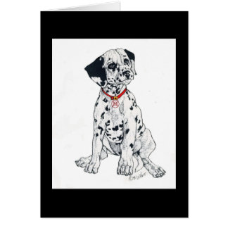 Dalmatian, firehouse staple greeting card