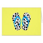 Dalmatian Flip-Flop Greeting Cards