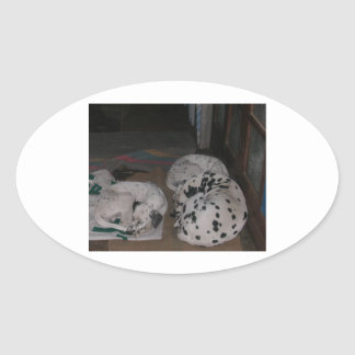 dalmatian group.png oval sticker