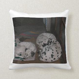 dalmatian group.png throw pillow