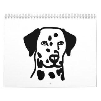 Dalmatian head calendar