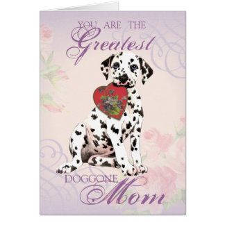 Dalmatian Heart Mom Greeting Card